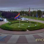Nice to see the #yycpride flag flying high above #Calgary Police HQ - http://t.co/Vk2a7BNmUa #yyc http://t.co/dX3k1iYJiD