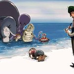 In photos: Editorial cartoons honour drowned Syrian boy http://t.co/VNWuk0IFon #HumanityWashedAshore http://t.co/yXipHMAJvd