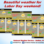 Beautiful weather for this Labor Day weekend. #Bufwx #Rocwx http://t.co/5AC1mOT64Y