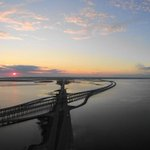 Nice start to the Labor Day weekend over the bay. Photo by Tim Ard. http://t.co/58lcBnPMEO