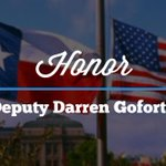 Today, by order of @GregAbbott_TX flags are flying at half-staff to honor #DarrenGoforth and all law enforcement. http://t.co/3nadc842ML