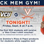 Students be sure to come out to Memorial Gym tonight for the #UVaVB home opener against VCU at 7 pm! @UVaHooCrew http://t.co/EAHmEgduOm