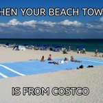 When your beach towel is from Costco... #LabourDay #LongWeekend http://t.co/z1gFgY262T