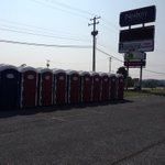 Portapotties are in position for Saturdays #RedLandLL celebration http://t.co/OGnsoqaOKf