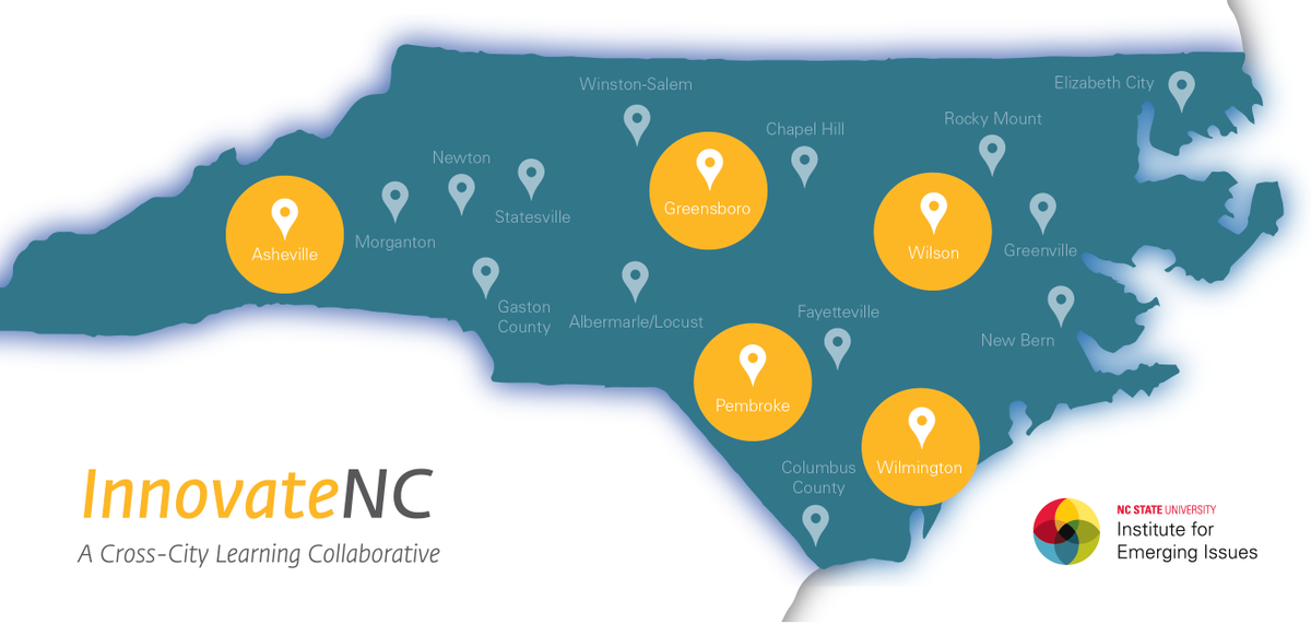 And the #InnovateNC cities are: Asheville, Greensboro, Pembroke, Wilmington & Wilson! http://t.co/KhIa3QpFGt http://t.co/uscc0OS2qZ