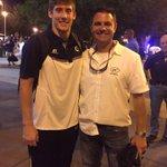 BC coach Danny Britt looking like a proud dad after BCs Brad Stewart played his 1st game for Ga. Tech! #Savannah http://t.co/obmVSlkqck
