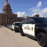 Law Enforcement gathering around TxCap for #BackTheBlue Lights go on at 11 #FOX7Austin http://t.co/xH6tTOEjYC