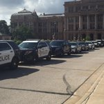 Officer from across Central Texas gathering at the Capitol in honor of fallen Deputy Darren Goforth. http://t.co/l61gBCWVnl