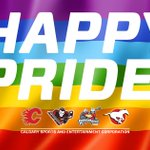 The #Flames are proud to participate in the @PrideCalgary Parade ~ http://t.co/j2J3Y1iBdz http://t.co/evpTFagfkF