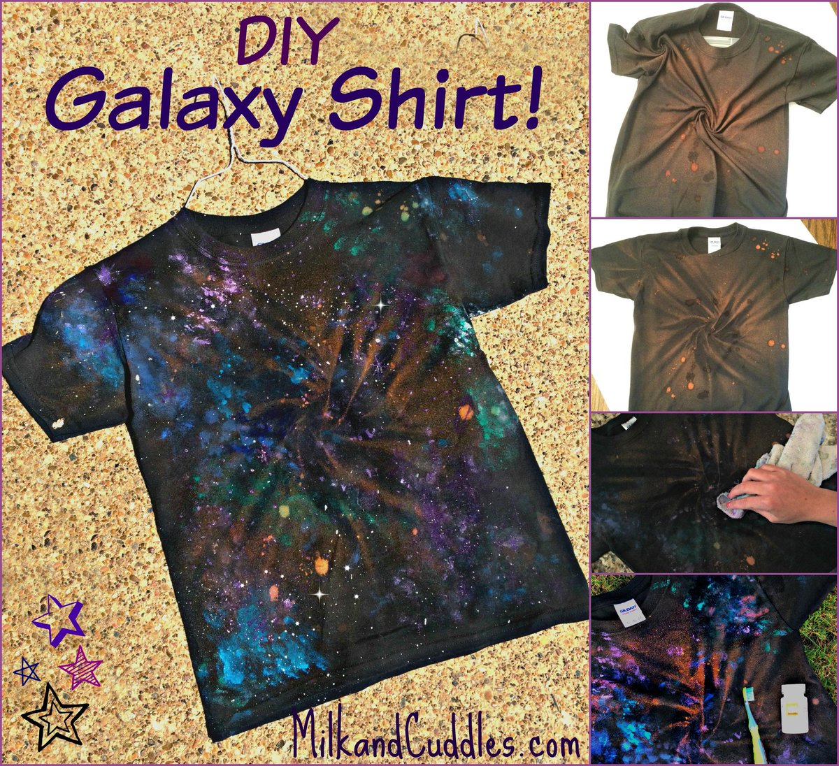 In honor of #ForceFriday #StarWarsEvent and #Starwars - GALAXY Shirts! SO easy & fun to make! http://t.co/1KU6h8VWiA http://t.co/MB8QNOtElh