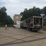 The truck is backing into the stadium #HookEm http://t.co/5512S3Ci6y