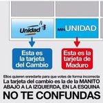 #Venezuela ¡Epa, no te equivoques! ¡Abajo y a la izquierda! VOTA UNIDAD! #6D #ElCambioEresTu http://t.co/LQYd95Q46Z