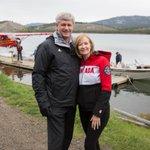 Took a trip across beautiful Schwatka Lake in Whitehorse this morning with @LaureenHarper. #cdnpoli #elxn42 http://t.co/qc4B2239qO