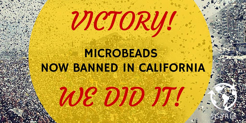 CA Microbead ban AB 888 just passed the senate & will now become law. Thank you so much! #banthebead http://t.co/sFaxDQS4rs