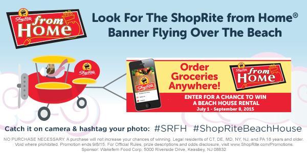 Heading to the beach? RT & enter to win a 2-week #ShopRiteBeachHouse rental here: http://t.co/tiyv0XBvcF  #SRFH http://t.co/HYYOv3OZCl