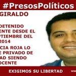 #PresosPolíticos Juan Girlado. La justicia roja lo mantiene privado de libertad siendo inocente http://t.co/qkztYisMBO