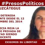 """""""@jsandoval0707:#PresosPolíticos María Uzcátegui.La justicia roja la mantiene privada d libertad siendo inocente http://t.co/tWsrHTsASE""""DYPL"""