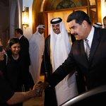 #FOTOS: Pdte .@NicolasMaduro acompañado por el periodista Walter Martínez, durante encuentro con el Emir de Qatar http://t.co/O2PytMumLs