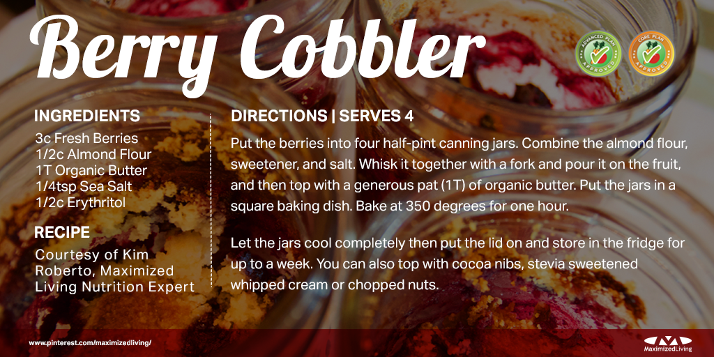 Looking for a delicious, sugar-free dessert for your family? Try our easy-to-make jarred berry cobbler! #Yummy http://t.co/w9Q9rJNxtn