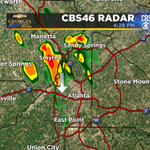 Heads up in #Atlanta. Storms moving into the city for rush hour. http://t.co/TN8YzyeglG