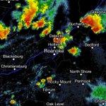 Several strong cells N & NE of Roanoke sliding SW toward Roanoke/New River valleys #swvawx http://t.co/ewSbpGebyg