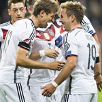 Goals from @esmuellert_ and @MarioGoetze gave @DFB_Team_EN a 3-1 win over @lewy_official and Poland tonight. #GERPOL http://t.co/ZYLcnoR4jn