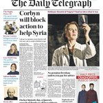 Tomorrows Daily Telegraph front page: Corbyn will block action to help Syria http://t.co/FumT7CZOBO