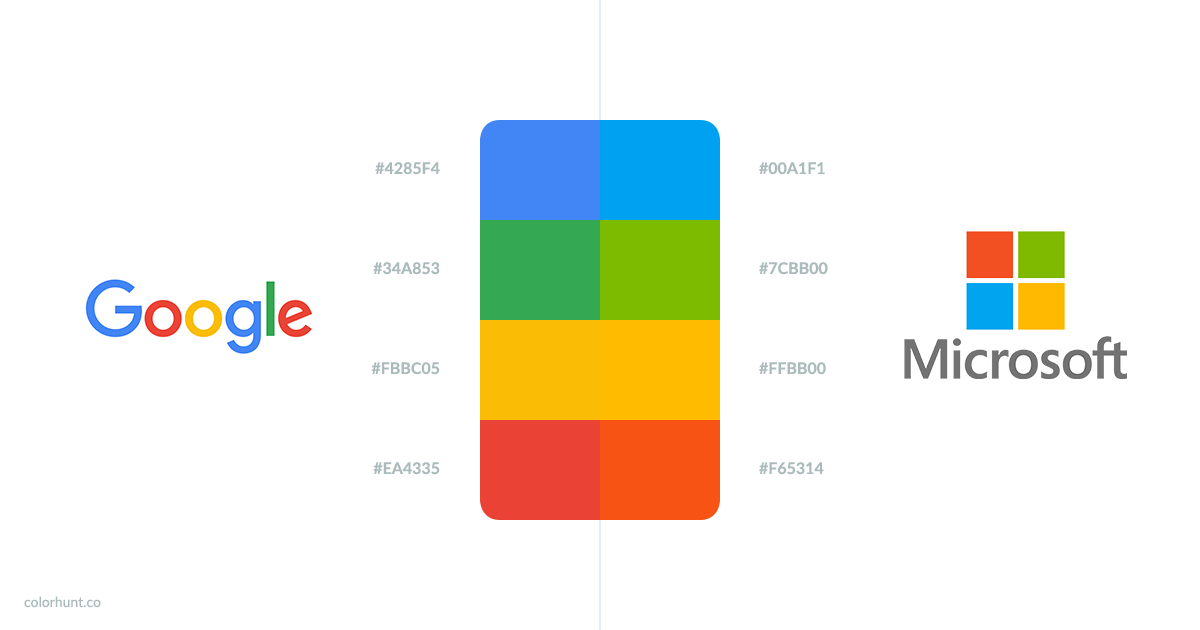 Is There Any Difference Between Google's & Microsoft's Colors? http://t.co/vGRswUdb3U http://t.co/PHNrkFefwa