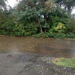@NWSBlacksburg @KevinMyattWx @wxman7 flooded driveway at strip mall off 1300 block Roanoke blvd Salem. Abt a ft deep http://t.co/mqXHNn119z