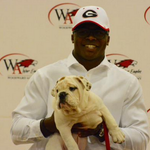 Elijah Holyfield, son of Evander Holyfield, commits to Georgia with bulldog puppies. VIDEO: http://t.co/5KKMYZSfQN http://t.co/KfJXr2DlzX