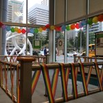 All decked out at 8th & 8th! Come get your TD rainbow scarf and wristband! #Pride2015 #yycpride #LGBT #TDforeverproud http://t.co/9yLCryuLzF