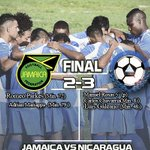 Final: Jamaica 2-3 Nicaragua  Dale favorito y RT http://t.co/NgJmxg2J9S