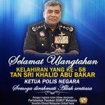 Selamat Ulangtahun Kelahiran Yang Ke-58 Ketua Polis @KBAB51.Daripada Pasukan SEMUT Malaysia @Huan2U http://t.co/GFuIEwEGBt @IsmaaonMuhammad