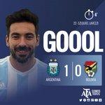 #VamosArgentina ¡Gol del @PochoLavezzi! @Argentina gana 1-0 a los 6 minutos del primer tiempo. http://t.co/1C2l3Qjs0P