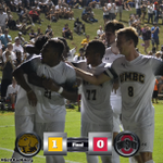 Its over! UMBC knocks off Ohio State 1-0! Madisons goal is the winner! http://t.co/EeRG8Qybj0
