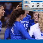 FINAL - #UKVB closes it out in four! Cats now 4-1 on the season, take on No. 8 @uscwomensvolley tomorrow @ 11 a.m. http://t.co/r8Wnv4WrhU