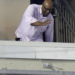 Bo Jackson waves hello at Kauffman Stadium during #Royals vs #Whitesox game. @KCStar @Royals http://t.co/cUW9gu78mQ