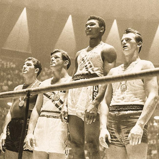 55 years ago today, an 18-year-old Muhammad Ali won a boxing gold medal in Rome. 💯 #GOAT