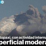 Informe: El #VolcánCotopaxi se mantiene con actividad interna alta y la superficial moderada » http://t.co/cELSkIEQ0u http://t.co/0ckPQe5sXV