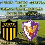 PEÑAROL vs. FÉNIX (16:00) Estadio: Franzini Árbitros: Jonathan Fuentes,Partido que se disputará a puertas cerradas. http://t.co/nvyBEddTAV