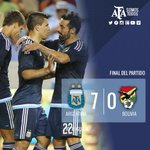 #VamosArgentina ¡Final del partido! #Argentina ganó 7-0 ante #Bolivia. Toda la información en http://t.co/b69piwtsHJ http://t.co/xeoUCscIhn