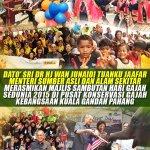 Dato Sri @DrWan_Junaidi merasmikan majlis sambutan hari gajah sedunia 2015 http://t.co/VHWEKHYDQX @Zahid_Hamidi