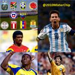 Messi es el CUARTO sudamericano que le marca a sus otros 9 rivales de CONMEBOL, tras Zico, Iguarán y el Tin Delgado. http://t.co/OSKwlvLRwf