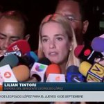 """""""El jueves #10S Leopoldo le hablará a la juez, y quedará libre"""" dice @liliantintori http://t.co/RX35X46zHN http://t.co/uEgcwDrEqz"""