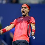 Down goes Nadal! No. 8 Rafa loses a 2-set lead as No. 32 Fabio Fognini comes back to win in 5 sets. http://t.co/40lNonqdOX