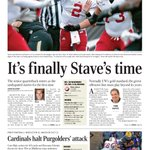 Saturdays @WiStateJournal sports cover. @Jason_Galloway & @TomOatesWSJ preview No. 20 #Badgers vs. No. 3 #Alabama. http://t.co/J5mWQYDt7m