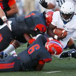 CHSs Gehrig Scott (@gehrigscott1) and Dylan Parsee (@DParsee) bring down a Byron Nelson runner #BlitzWTFB http://t.co/AmE9UHnWWc