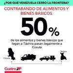 Por qué Venezuela cerró la frontera? Por contrabando de alimentos y bienes básicos #A30MesesDeTuSiembraComandante http://t.co/as0VfXqFZC