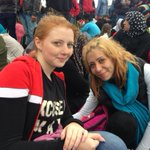 Zain, 16, and her sister, Ola, 28, from Aleppo waiting for the Hungarian border with Austria to reopen. #refugees http://t.co/UH0D8TiiIb