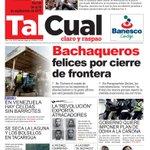"""#Venezuela #5Sep """"Bachaqueros felices por cierre de frontera"""" Diario Tal Cual http://t.co/KIJ6kZXfxb"""